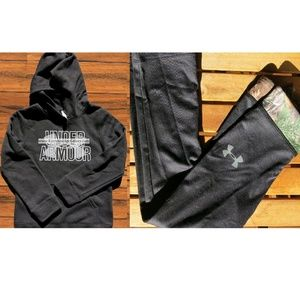 Under Armour 6X Realtree Pants Small Black Hoodie